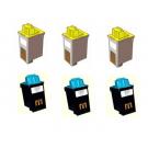 Lexmark Inkjet Cartridge XXLEX 70120 Combo (6)