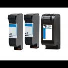 HP (Hewlett Packard)  Inkjet Cartridge XX7845 COMBO -3